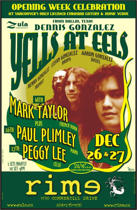 Yells At Eels plus Peggy Lee & Paul Plimley -- 12.26-27.04 -- Rime