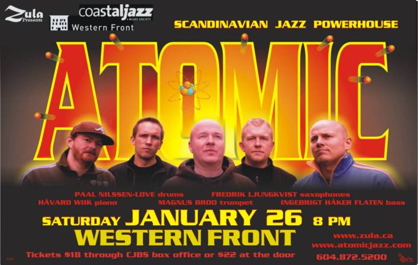 Atomic South Coastal BC Tour -- 1.26-30.08 -- Vancouver - Nanaimo - Victoria - Salt Spring - Gabriola