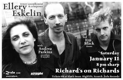Ellery Eskelin with Andrea Parkins & Jim Black   1.11.2003   Richard's on Richard's