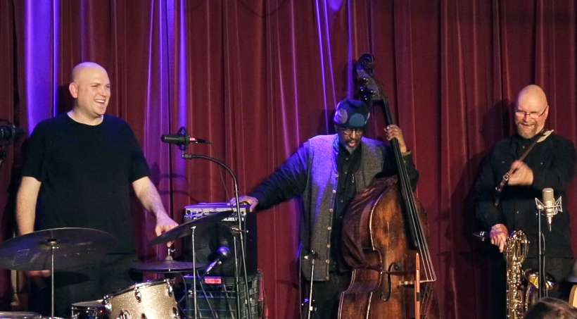 Jesse Stewart, WIlliam Parker and David Mott play GigSpace (still, from video)